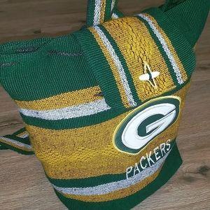 Green Bay Packers Backpack Cinch Bag Used